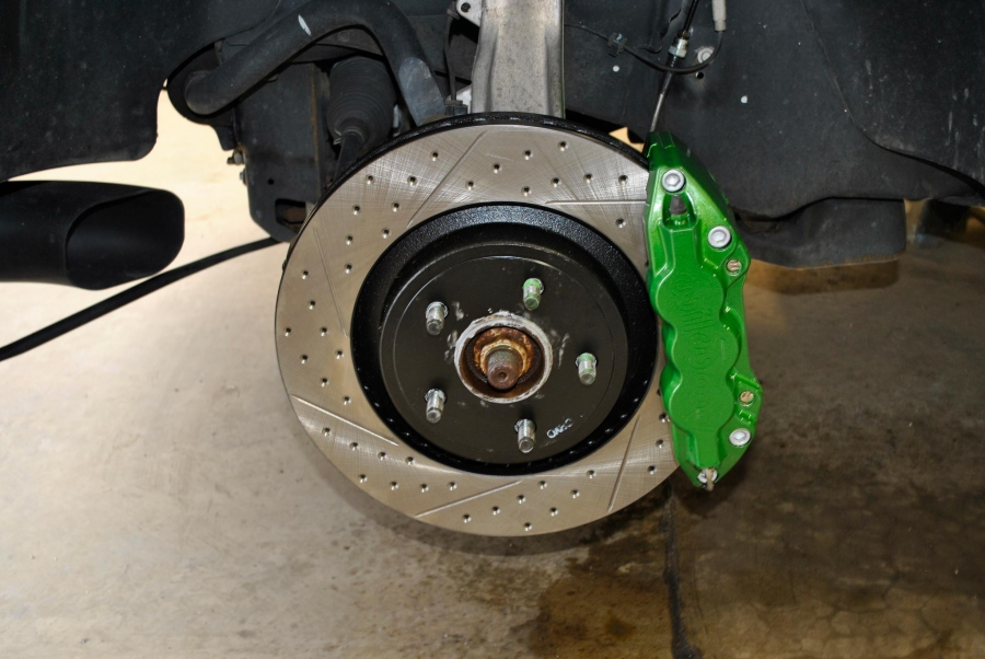 Lamborghini Verde Ithaca Custom Color Match Brake Caliper Paint