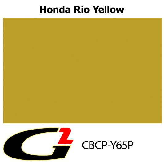 Y65P Honda Rio Yellow Custom Color Match Brake Caliper Paint Kit