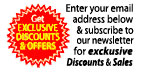 Enter your email address below and subscribe to our newsletter for exclusive discounts and sales